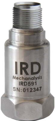 "IRD591 - Industrial Vibration Sensor, 0-25 mm/s rms, 2 Pin MS, 1/4-28"" UNF female"