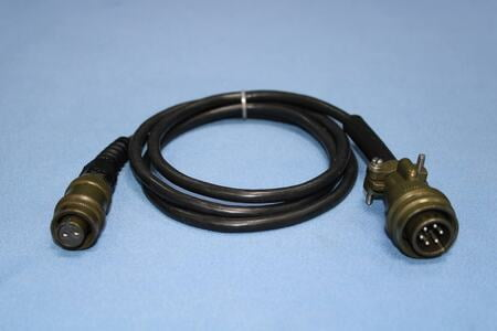 Cable Assembly for IRD811, MIL 6-PIN Male - instrument end, MIL 2-PIN Female Connector at sensor end, 1.2m length