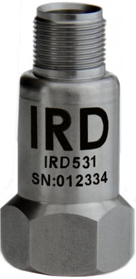 "IRD531 - Industrial Vibration Sensor, 4mV/mm/s, 2 Pin MS, 1/4""-28UNF Female"