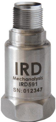 "IRD591 - Industrial Vibration Sensor, 0-20 mm/s rms, 2 Pin MS, 1/4-28"" UNF female"